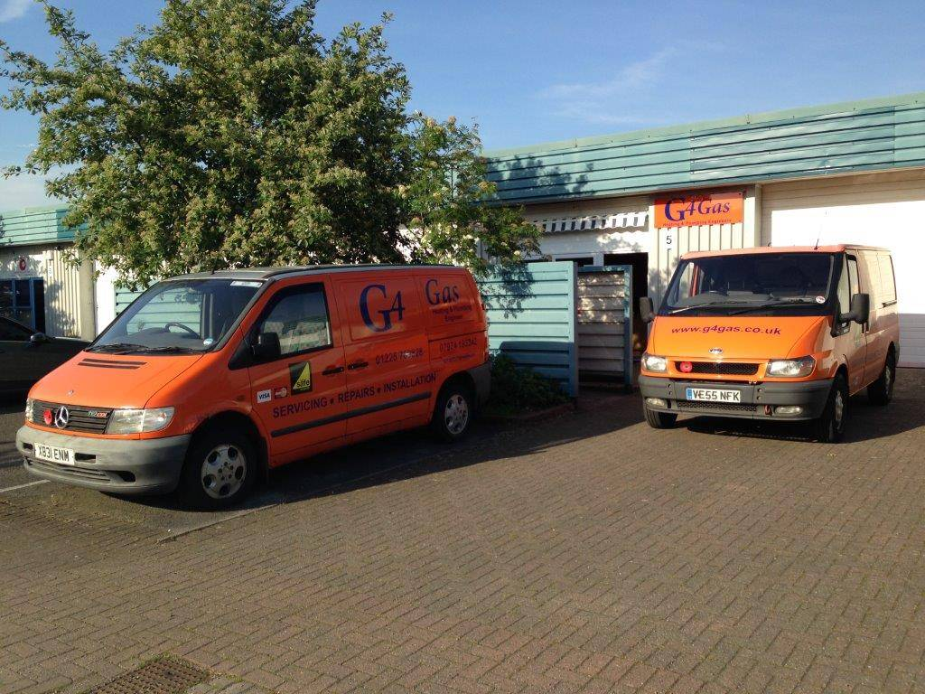 g4 gas van fleet outside office