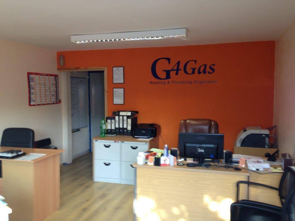 g4 gas office reception interior