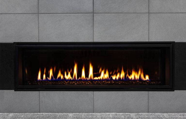 large home gas fire set in to wall