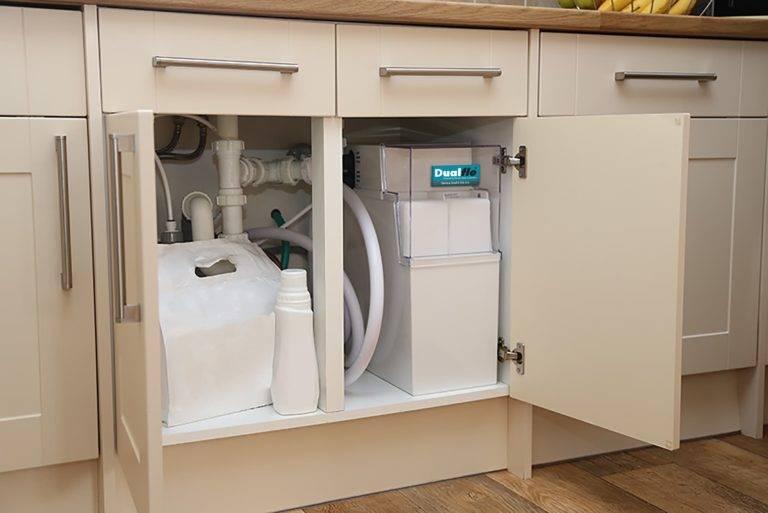 Dualflo Softener in Cabinet